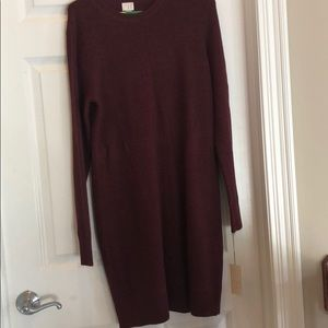 Maroon colored dress